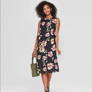 Who What Wear Floral Midi Dress